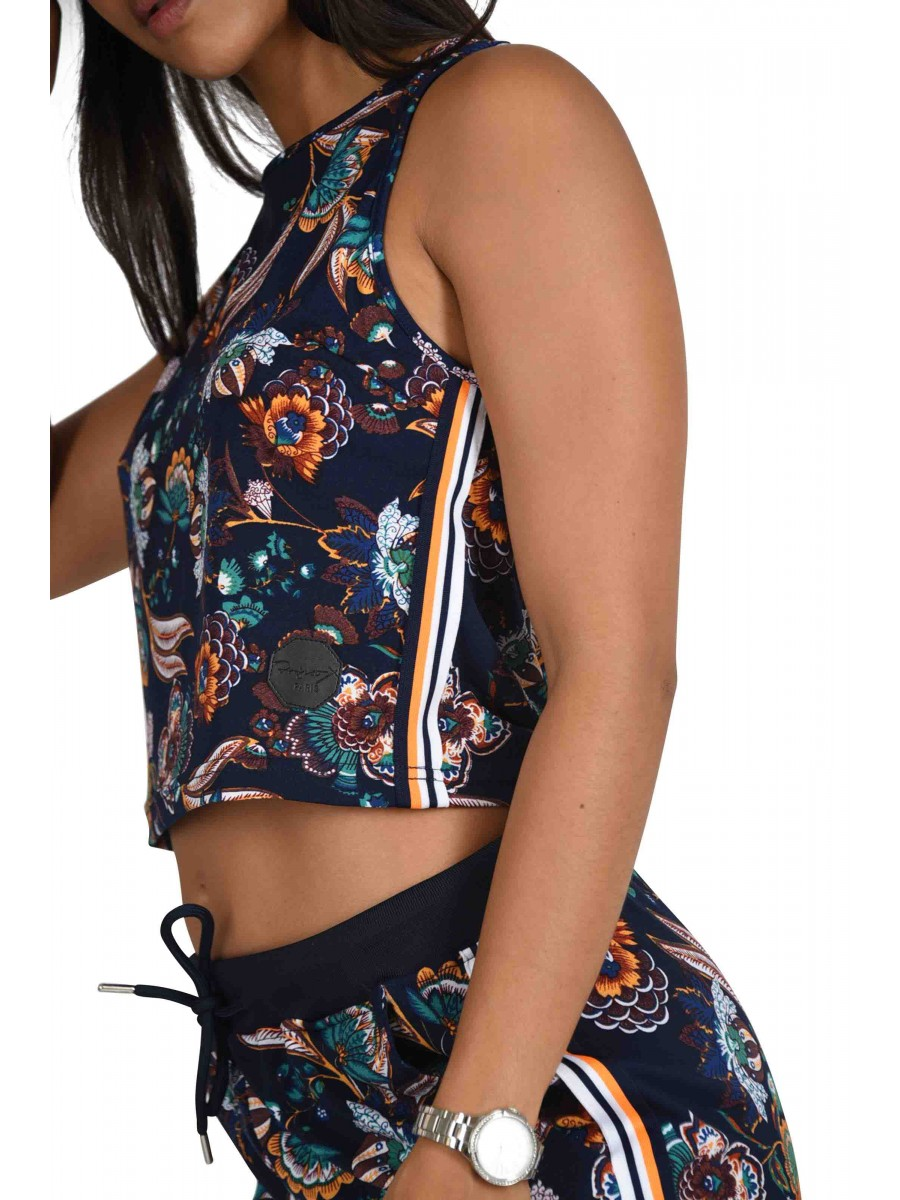 50e011e3220 Women's Crop Top with Flower Print Project X Paris