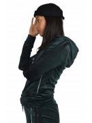 Veste à capuche velvet doubles bandes Femme Project X Paris