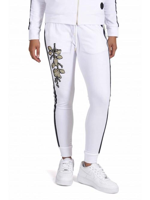 Pantalon de jogging velvet broderie florale Femme Project X Paris