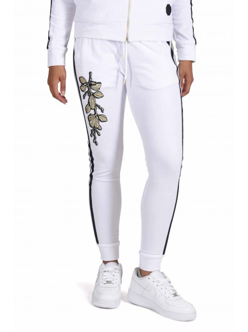 Velour joggers with floral embroidery Project X Paris