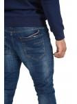 Jean slim légèrement délavé à bandes colorées Homme Project X Paris
