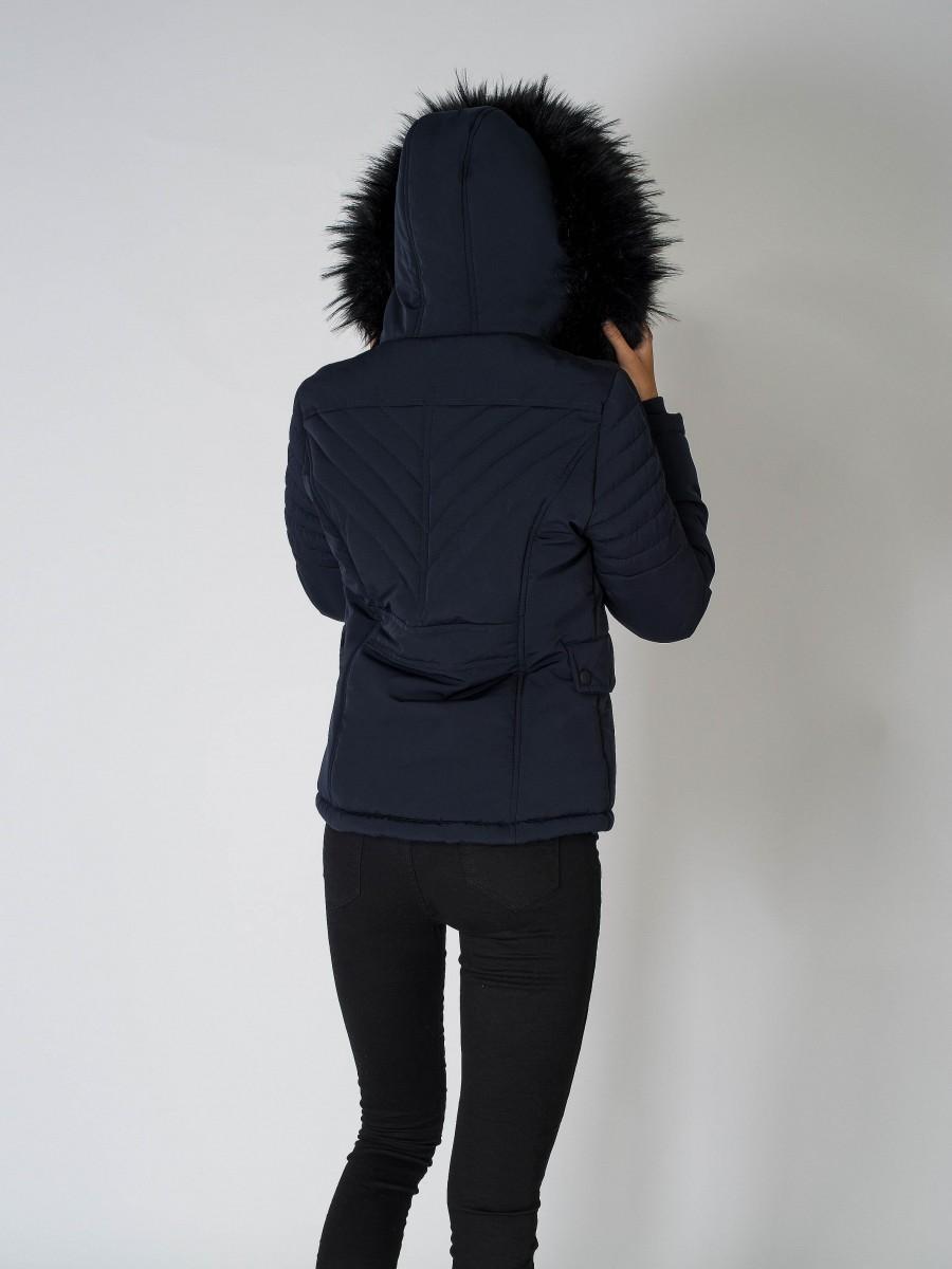 Parka courte matelassée à capuche Femme Project X Paris