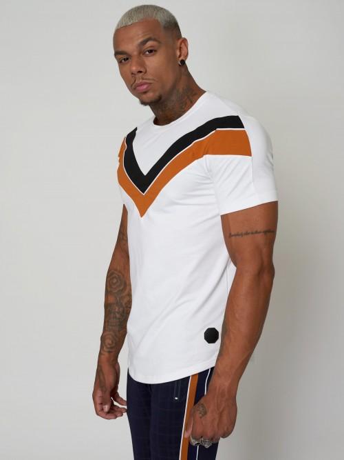 Tee shirt color block doubles V Homme Project X Paris