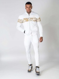 Veste zippée motif baroque Homme Project X Paris