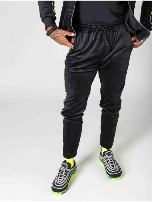 Velvet sweatpants with fluorescent trim Project X Paris