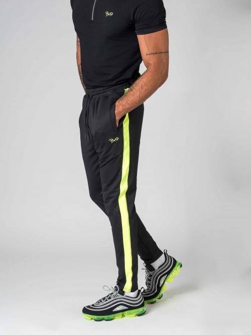 Pantalon de jogging à bandes fluo Homme Project X Paris
