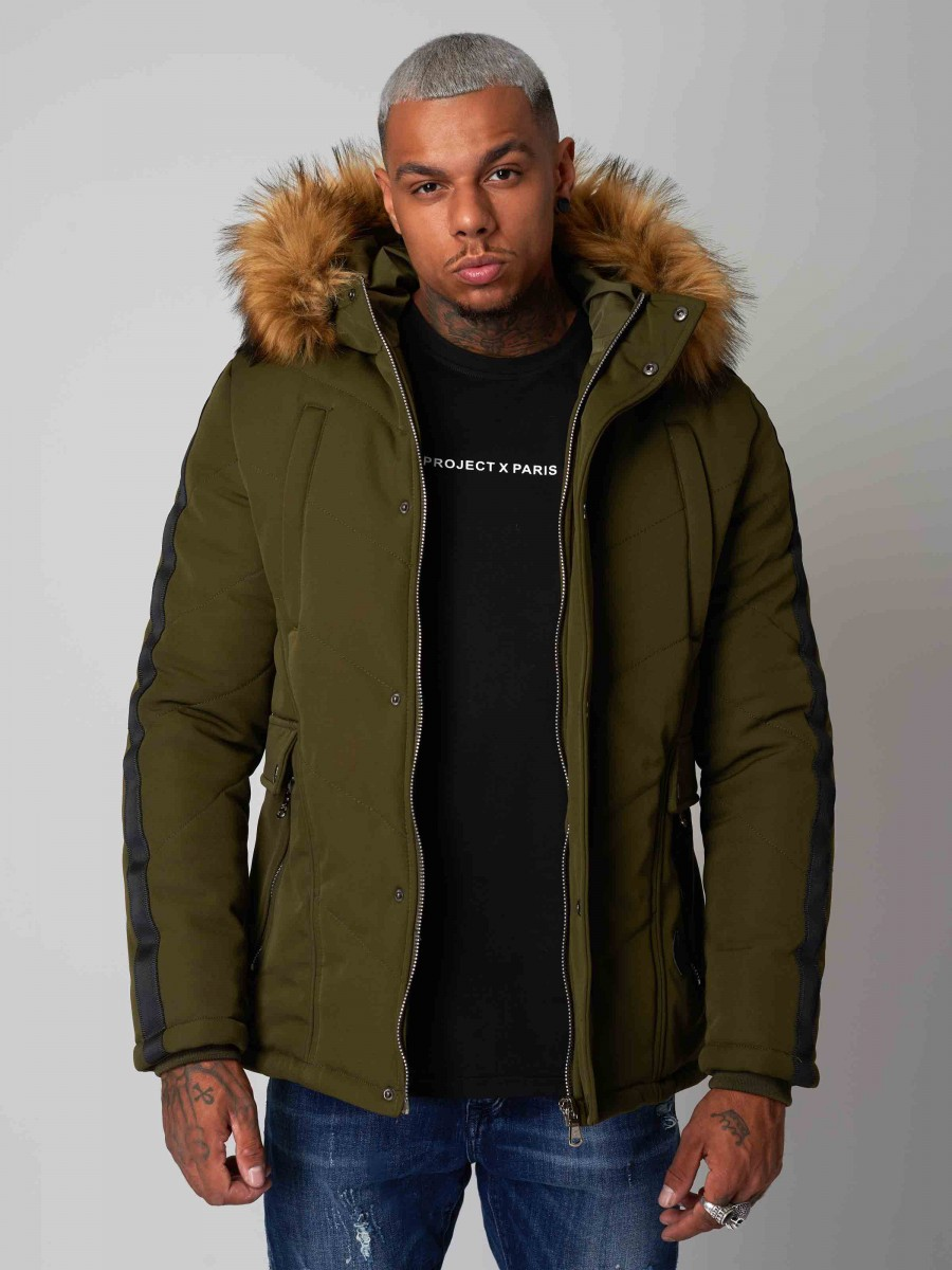 Manteau parka à bandes Homme Project X Paris