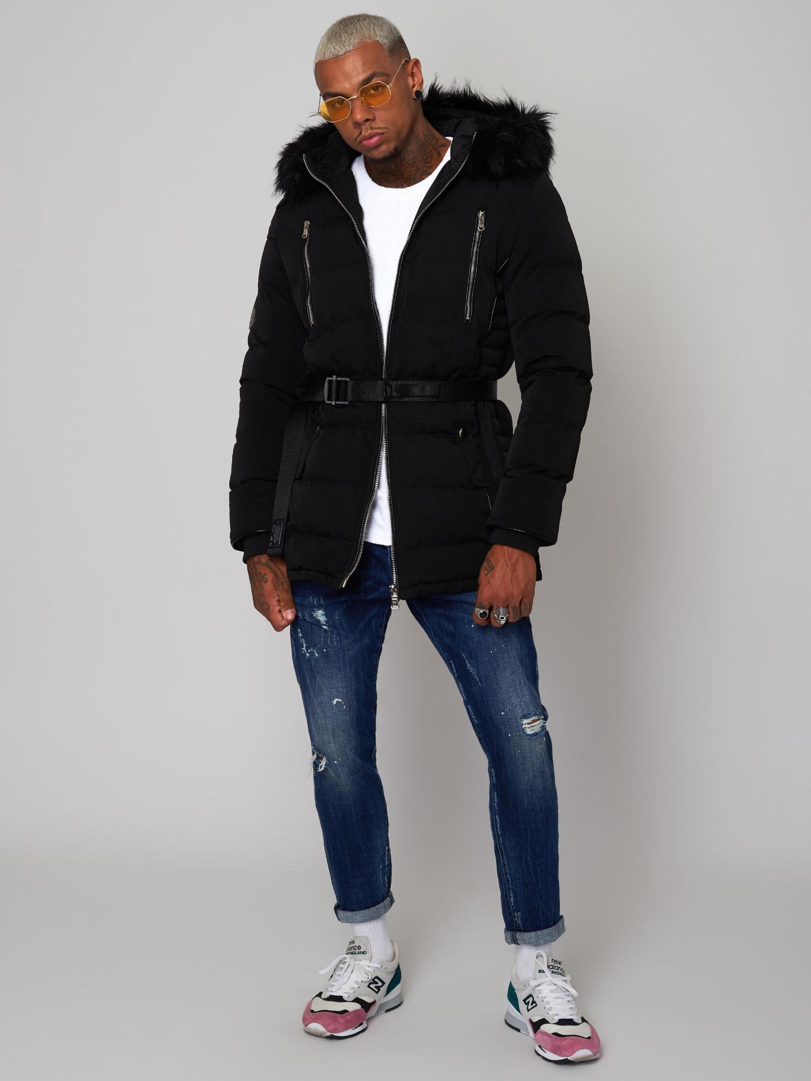 manteau capuche fourrure homme project x paris. Black Bedroom Furniture Sets. Home Design Ideas