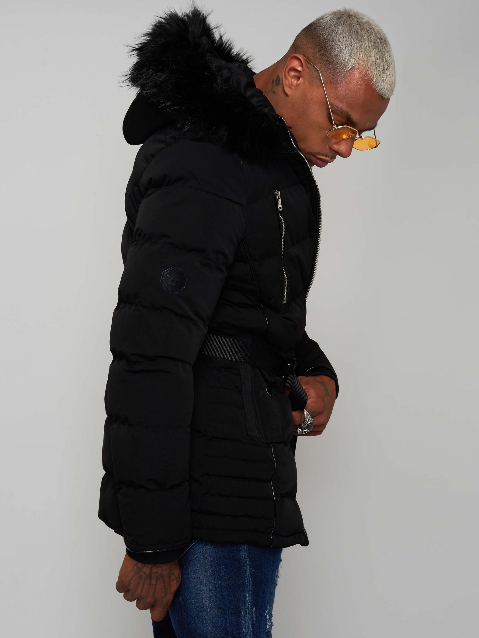 prix compétitif b2d35 2e1de Manteau à capuche fourrure Homme Project X Paris