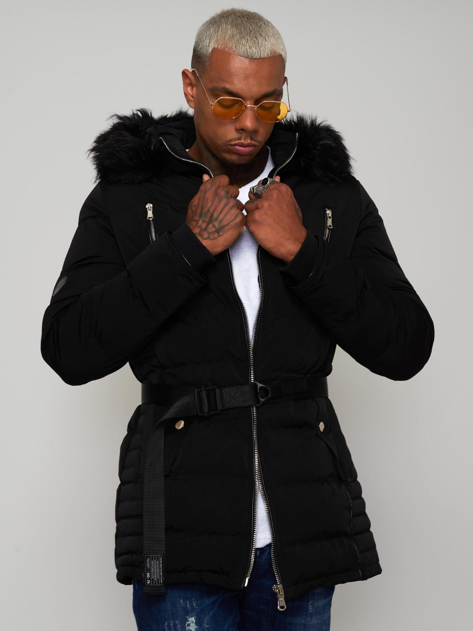 men 39 s coat with fur hood project x paris. Black Bedroom Furniture Sets. Home Design Ideas