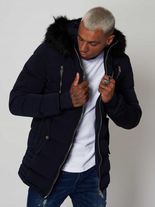 Manteau à capuche fourrure Homme Project X Paris