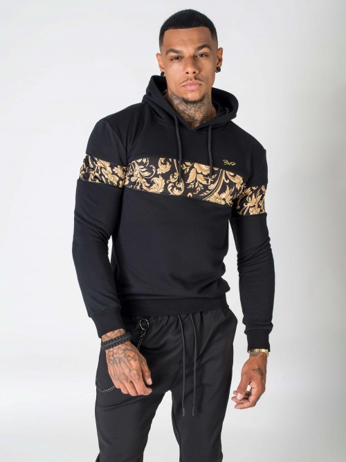 Baroque print hoodie Project X Paris