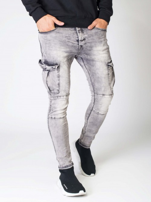 Jean slim style cargo Homme Project X Paris