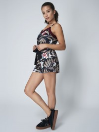 Caraco encolure V à bandes bicolores Femme Project X Paris
