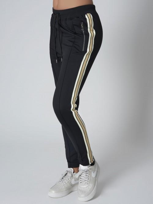 Pantalon de jogging à bande dorée Femme Project X Paris 2af3bfeb12bb