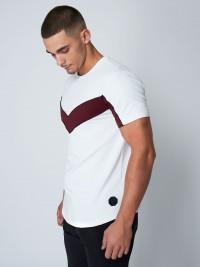 Tee shirt avec empiècement V contrasté Homme Project X Paris