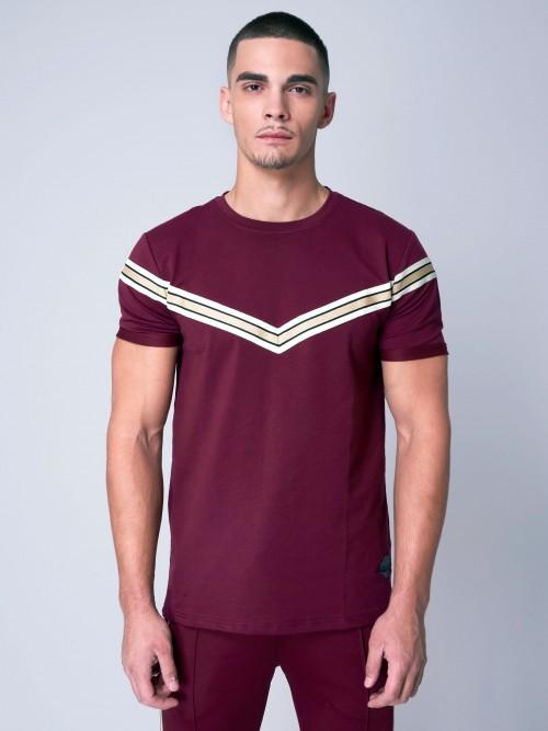Tee shirt avec empiècement V doré Homme Project X Paris