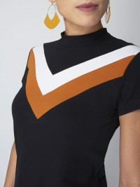 Tee shirt manches courtes color block Femme Project X Paris