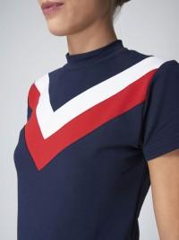 Tee shirt manches courtes color block Femme Project X Paris