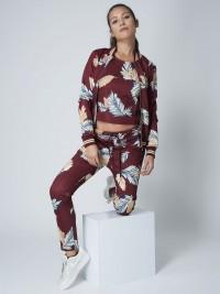 Veste teddy à imprimé feuille Femme Project X Paris