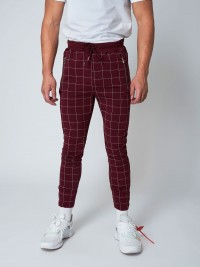 Pantalon de jogging imprimé gros carreaux Homme Project X Paris