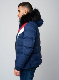 Doudoune courte à capuche fourrure, empiècement Homme Project X Paris