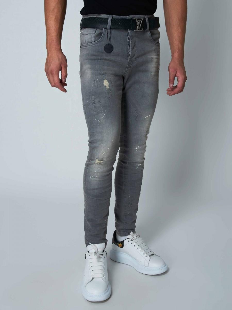 373dec1fb7 Men's Washed Slim Fit Jeans in Grey Project X Paris