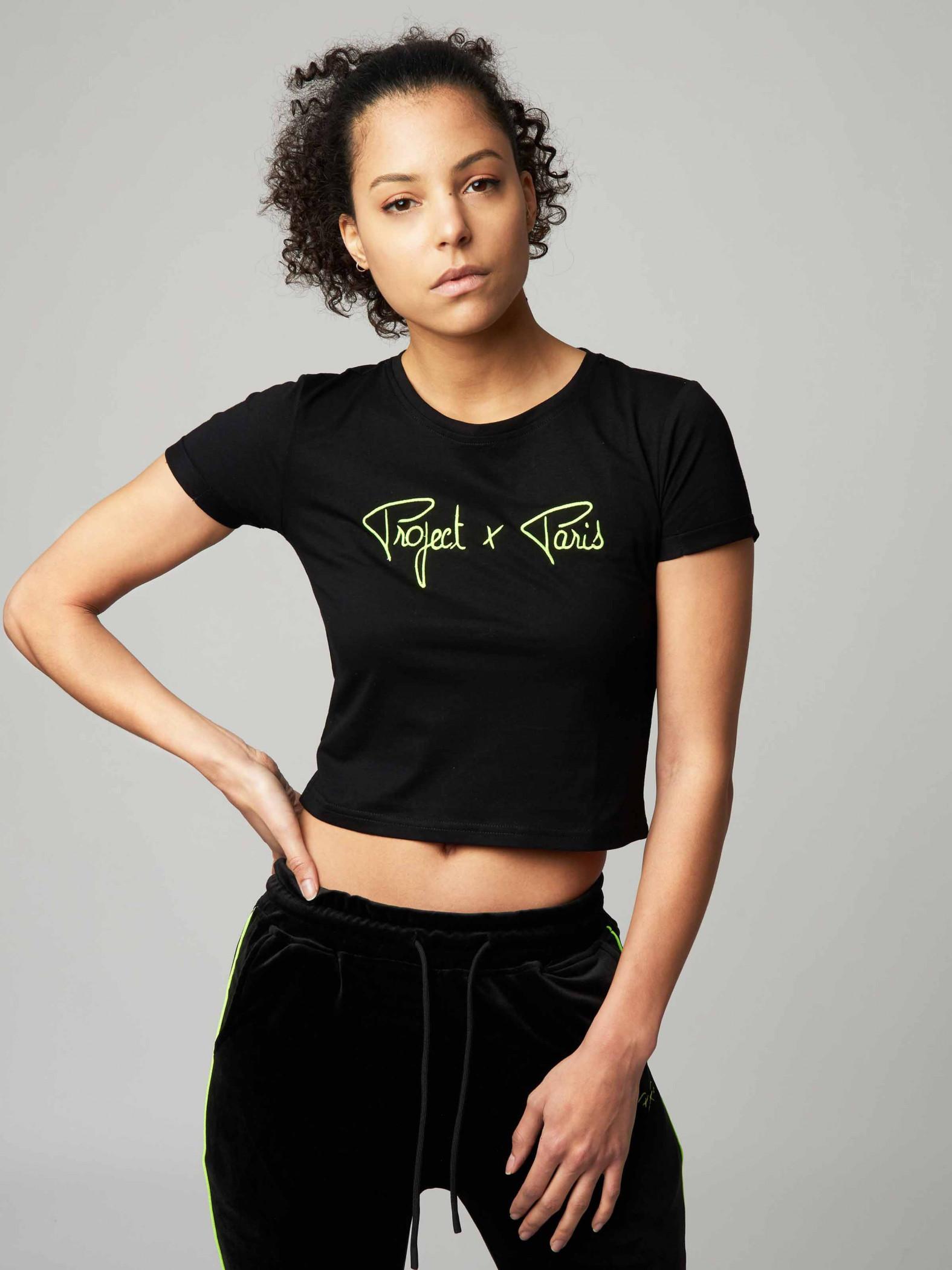 c8688ddc49c Women's Short Sleeve Neon Crop Top Project X Paris