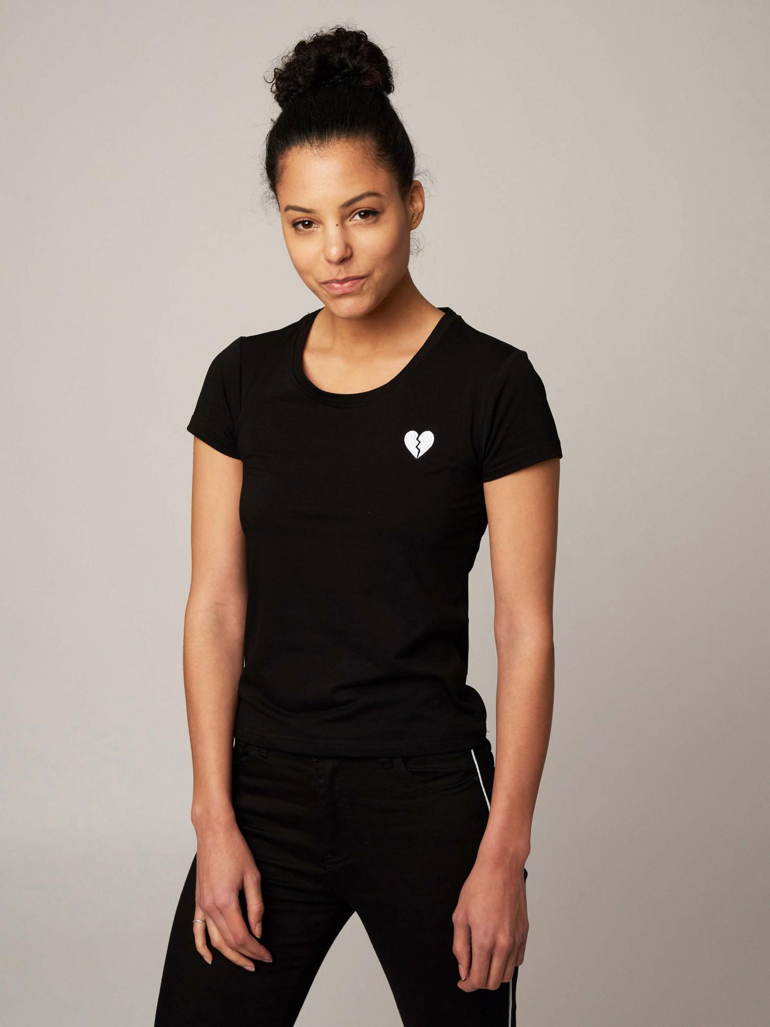 cdf3f7ebc7 Women's Broken Heart Embroidered T-Shirt Project X Paris
