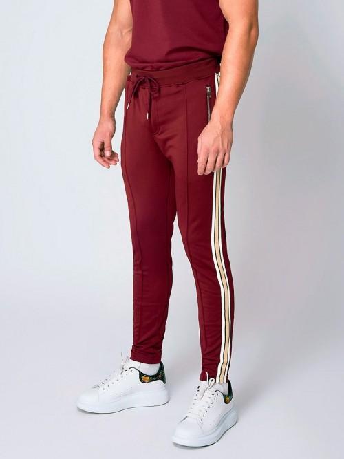 Pantalon de jogging à bandes dorées Homme Project X Paris