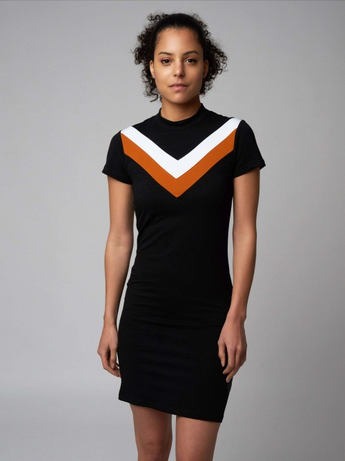 Robe moulante color block Femme Project X Paris