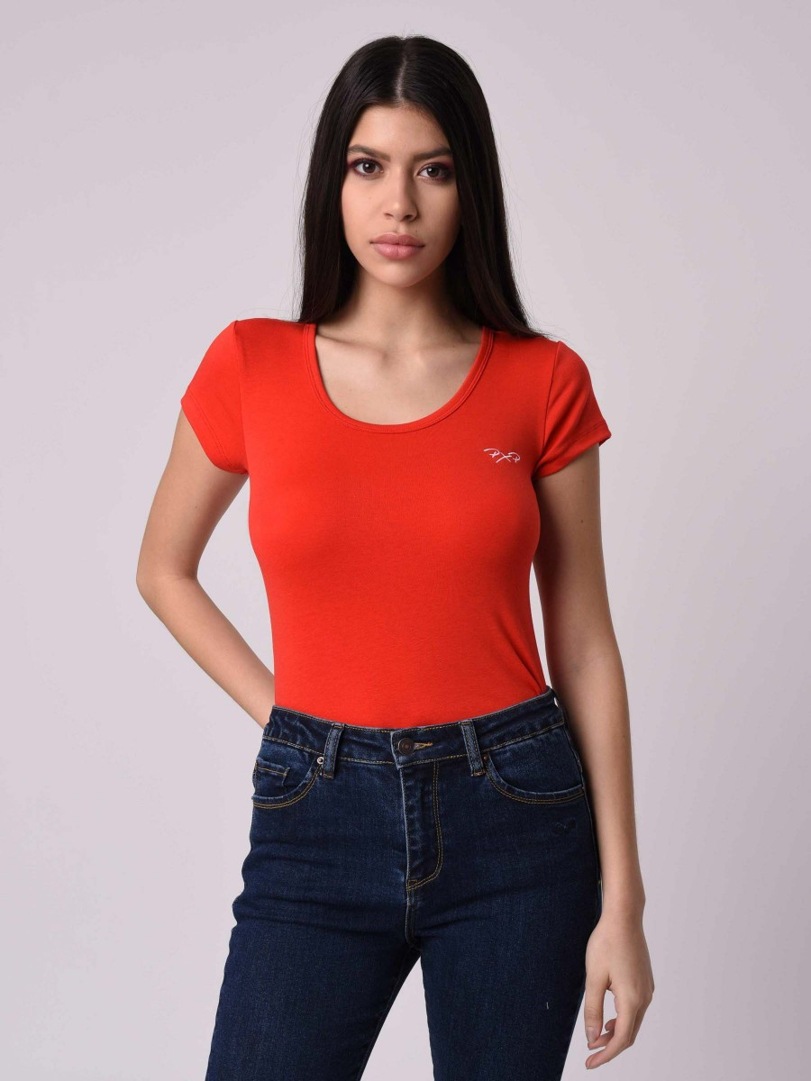 T-shirt Femme manches courtes à col rond Project X Paris