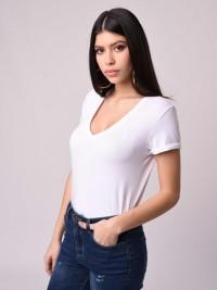 T-shirt manches courtes col V Femme Project X Paris