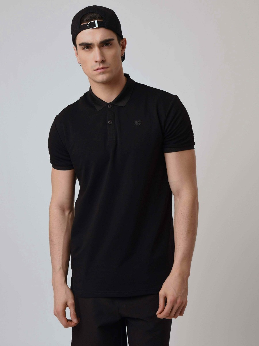 Polo with Broken Heart Embroidery