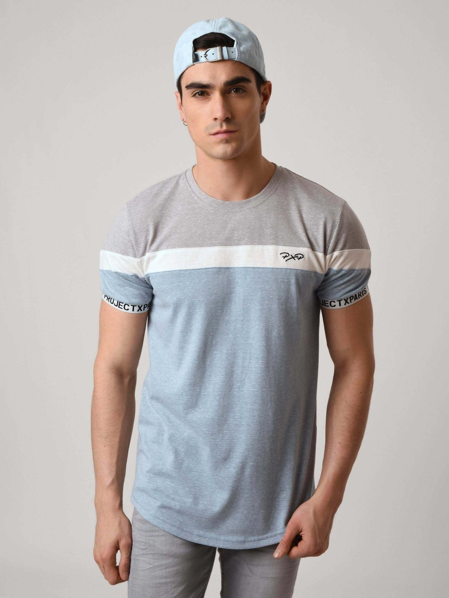2752bfe740 Tricolor T-Shirt with Logo Stripe Sleeve