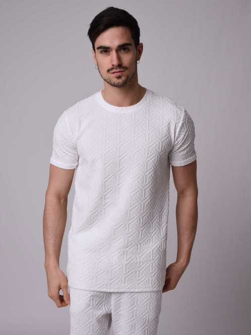 T-shirt motif à relief all over, Homme Project X Paris