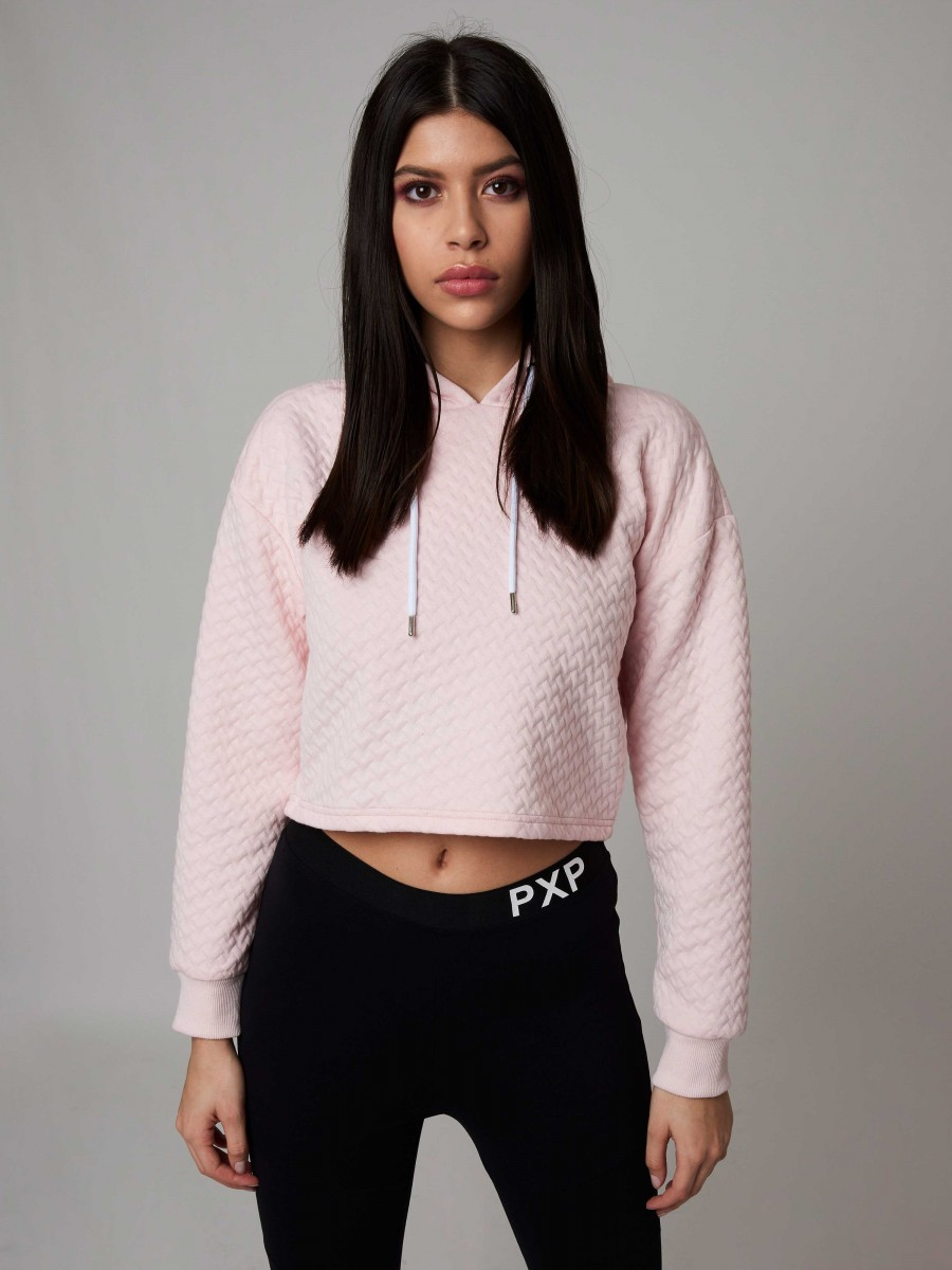 Hoodie crop top Femme Project X Paris