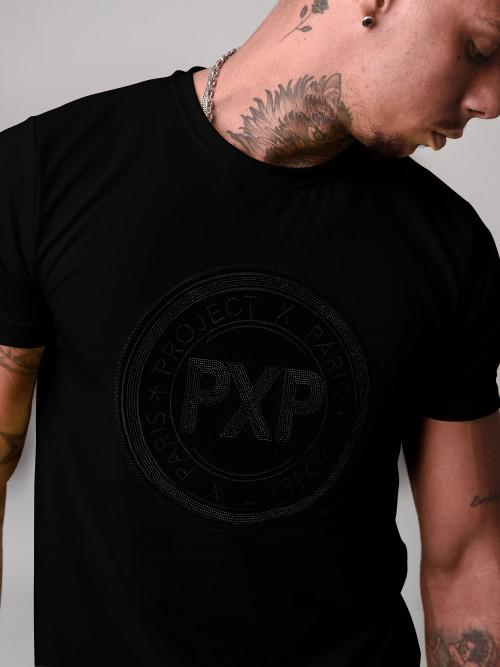 T-shirt manches courtes avec patch PXP brillant Homme Project X Paris