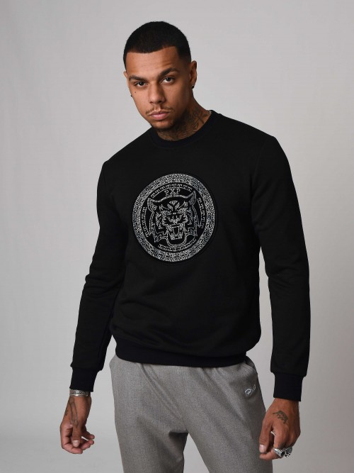 Sweat strass félin Silver Homme Project X Paris
