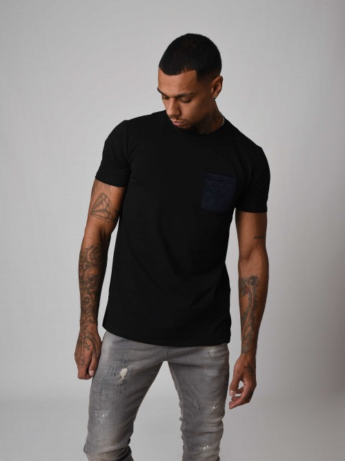T-shirt manches courtes poche velvet Homme Project X Paris