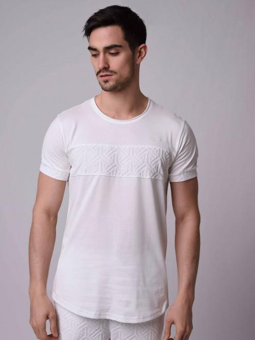 T-shirt empiècement motif à relief Homme Project X Paris