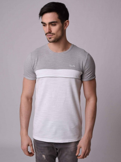 T-shirt bicolore Homme Project X Paris