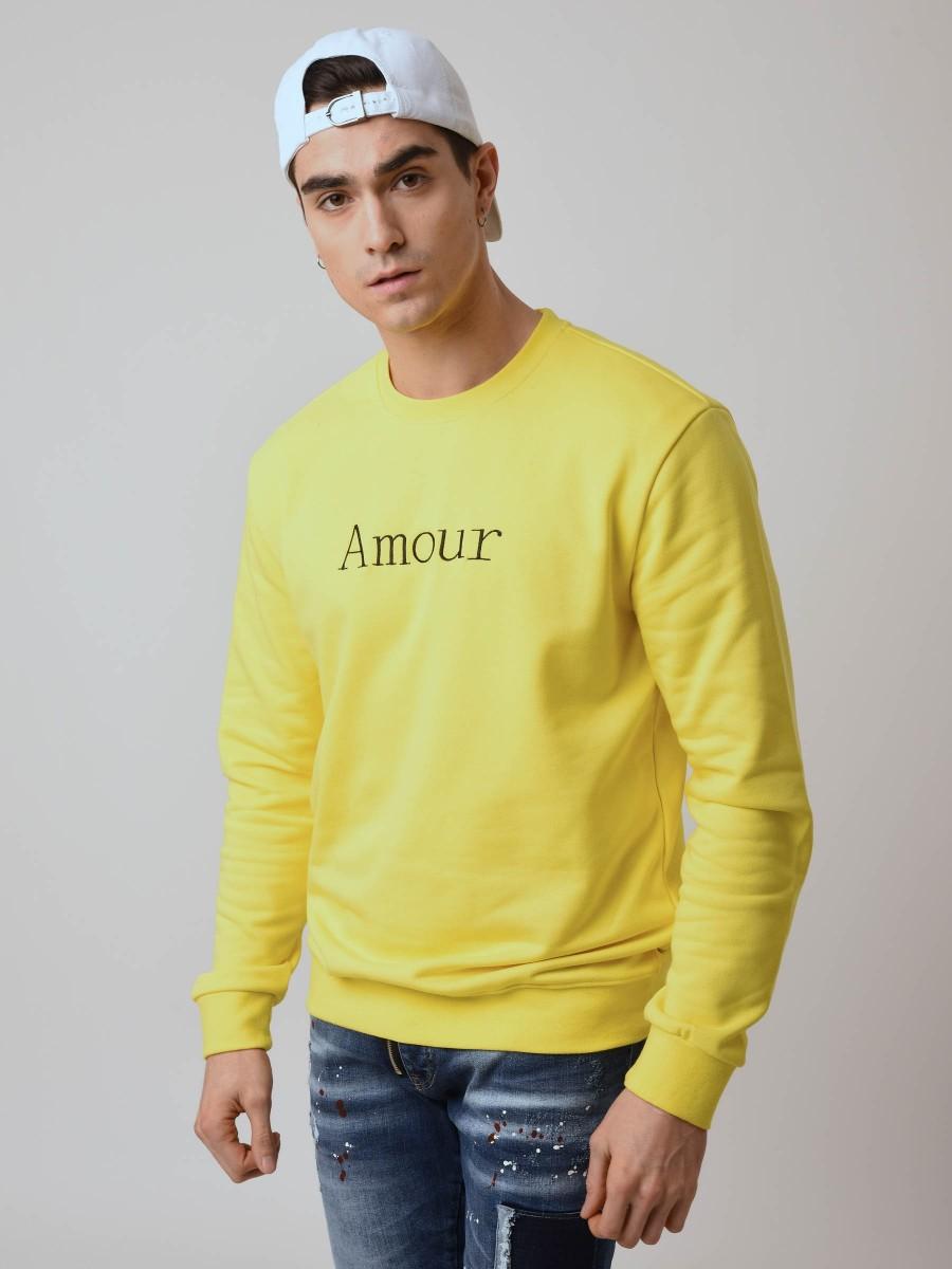 "Sweat Broderie ""Amour"" Homme Project X Paris"