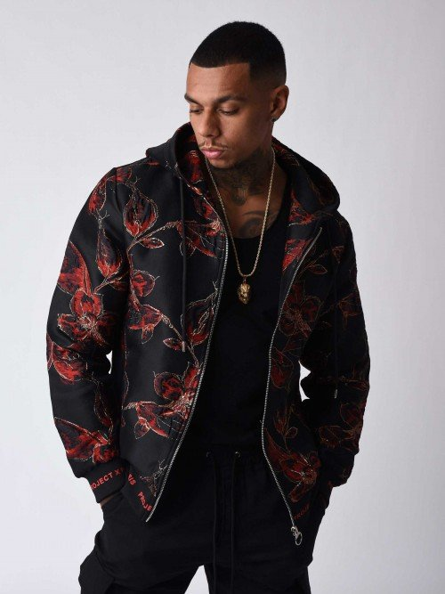 79b9b140f047 Veste motif floral ornement Homme Project X Paris ...