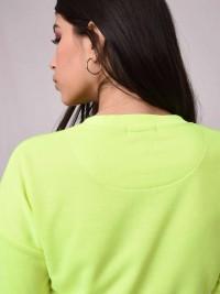 Sweat ultra crop avec print contrasté Femme Project X Paris