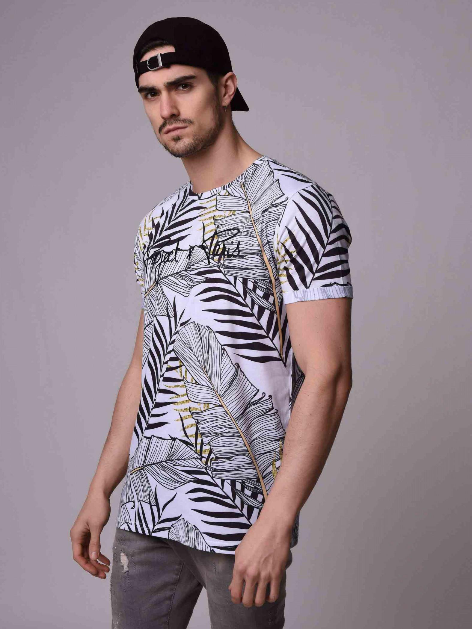 359e7766b9a8 T-shirt manches courtes, imprimé tropical Homme Project X Paris