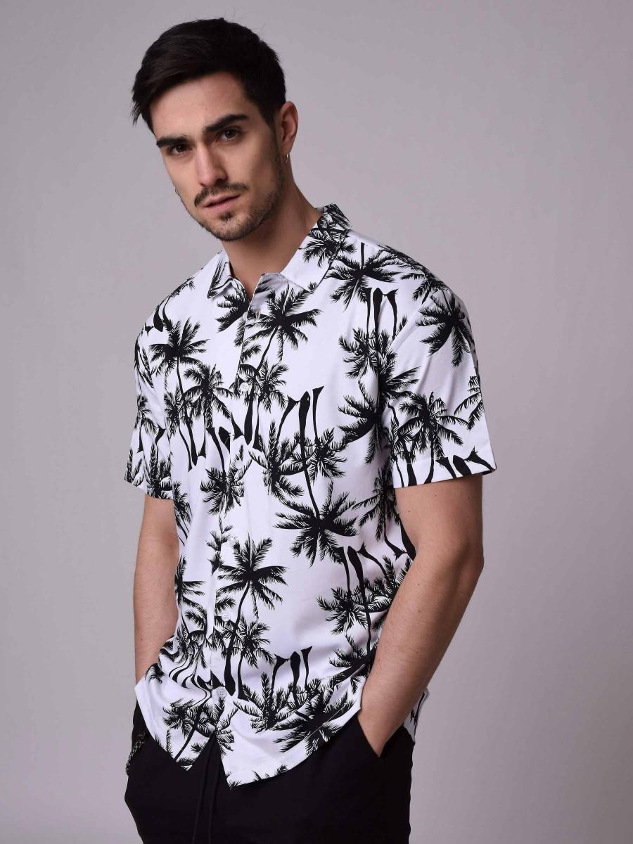 chemise manches courtes motif palmier homme project x paris. Black Bedroom Furniture Sets. Home Design Ideas