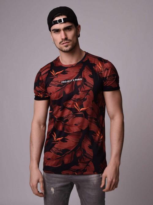 T-shirt manches courtes, imprimé jungle Homme Project X Paris