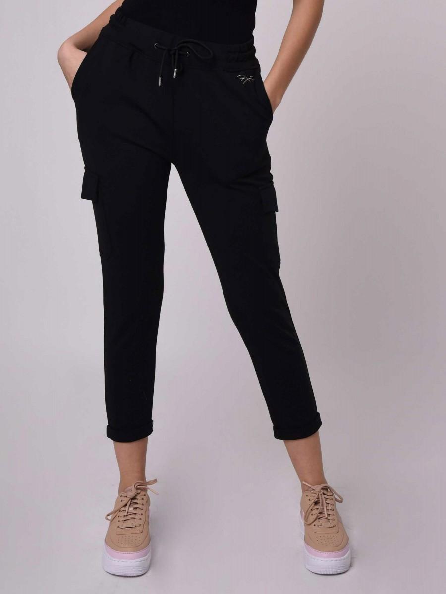 Pantalon coupe chino avec poches cargo uni Femme Project X Paris