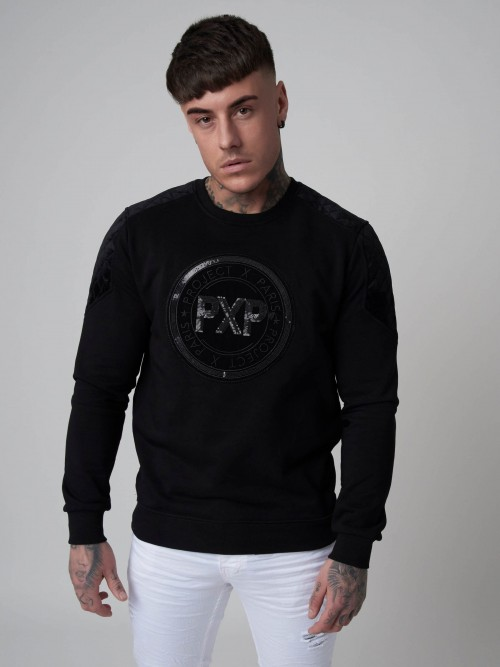 Sweatshirt with High Shine Sequin Patch Project X Paris ... ca0312d83